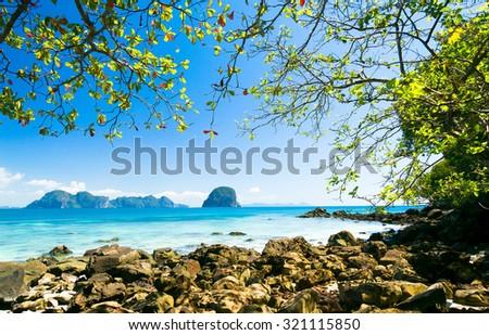 Sea Scene Day Dream  - stock photo