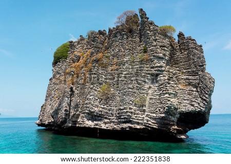 Sea Scene Desert Island  - stock photo