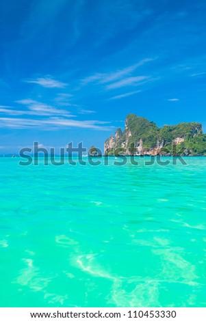 Sea Scene Heaven Getaway - stock photo