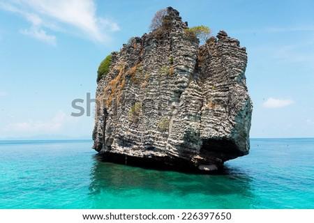 Sea Scene Idyllic Seascape  - stock photo