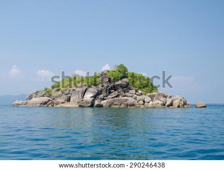 Sea Scene Rock Island in Lipe island in Satun Thailand - stock photo