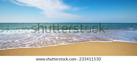 Sea shore. Element of design. - stock photo