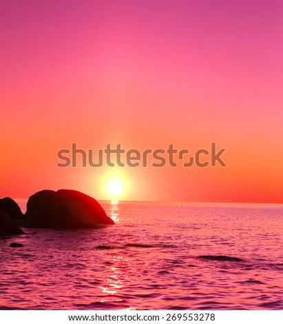 Sea Shore Horizon  - stock photo