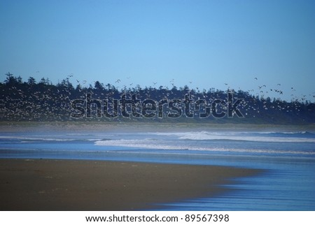 sea side bright blue - stock photo