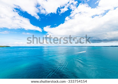 Sea, sky, seascape. Okinawa, Japan, Asia.