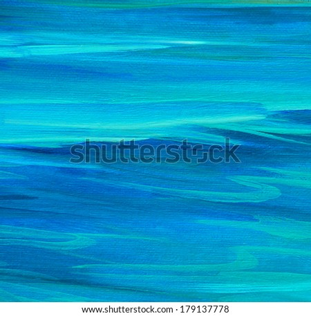 sea smooth surface, painting by oil on canvas, illustration, background - stock photo