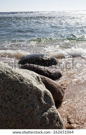 Sea. stones. - stock photo