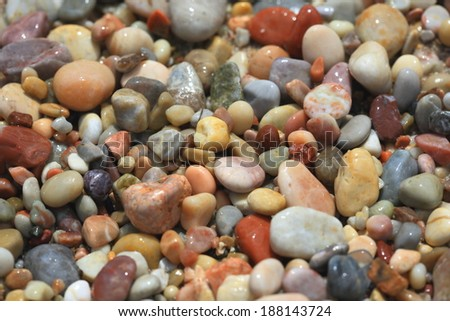 Sea stones background - stock photo