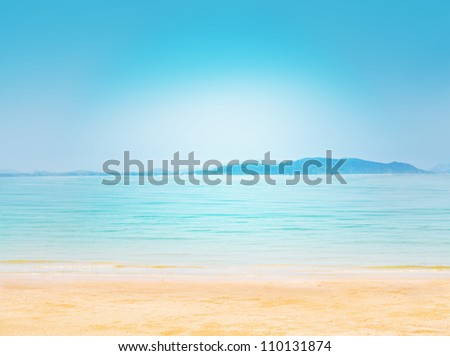 Sea summer abstract background. Beautiful tropical seascape. Sky and sea.