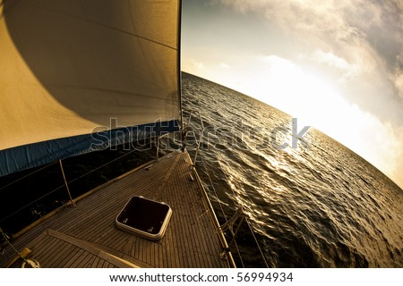 Sea, sun and sail - stock photo