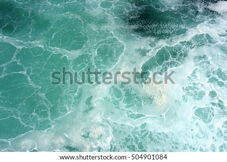 sea surface top view, background wallpaper