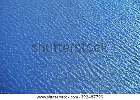 Sea surface, view from airplane