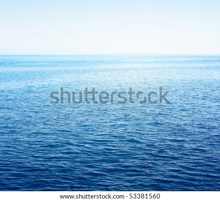 Sea surface with sky - stock photo