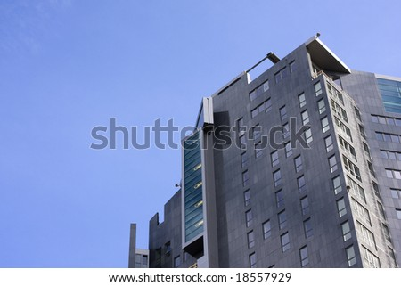Sea Towers skyscraper in Gdynia, Poland - stock photo
