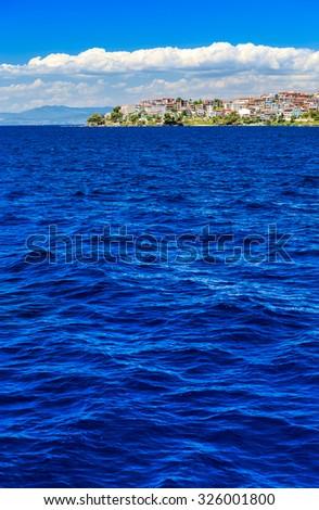 sea under the blue sky - stock photo