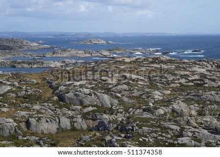 Sea view and rocks at  Lindesnes, Norway