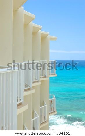 sea view apartment - stock photo