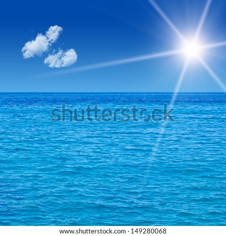Sea View Background. High quality stock photo. - stock photo