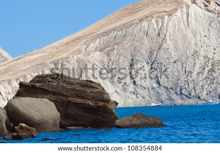 sea ??view east coast of the Crimea - stock photo