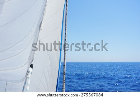 Sea view from a sailing ship