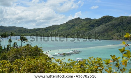 sea view from Boracay in Phillipins - stock photo