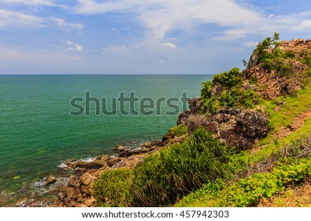 Sea view Look from Noen Nangphaya View Point , Chanthaburi, Thailand