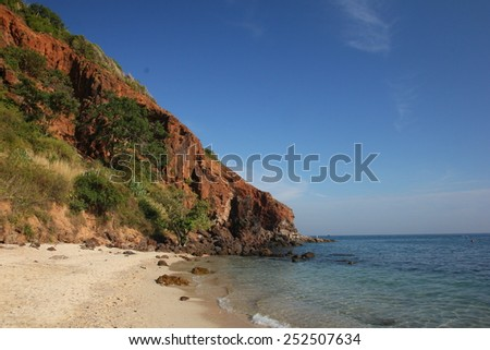 sea view of koh larn pattaya,Thailand - stock photo
