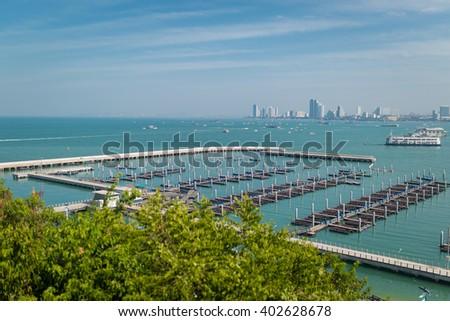 Sea View  Pattaya, Thailand - stock photo