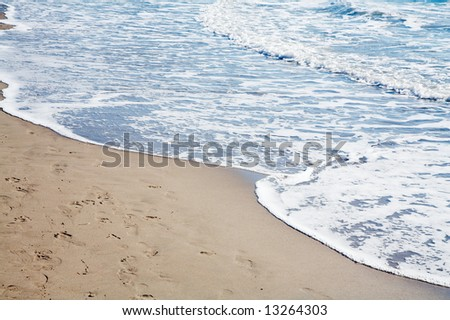 sea water and the sand