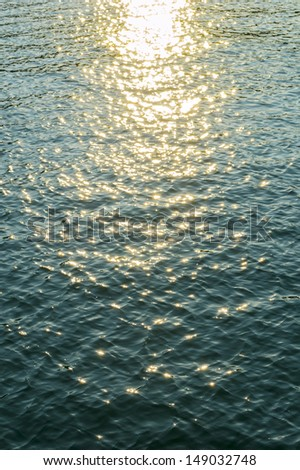 sea water with sun reflections