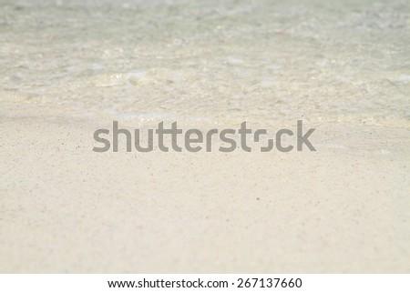 sea wave at tropical island, Koh Lipe, Andaman Sea, Thailand - stock photo