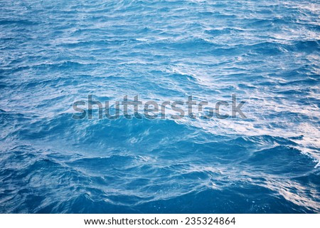 Sea wave in the Gulf of Thailand photographed close-up - stock photo