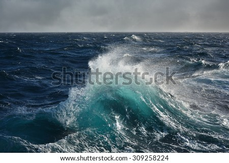 sea wave in the indian ocean - stock photo
