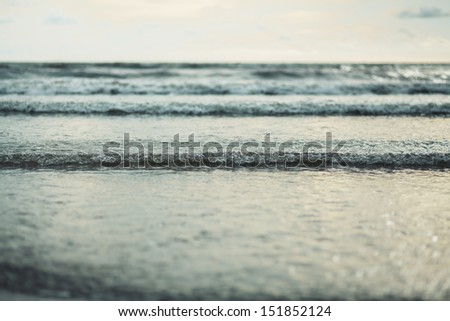 Sea wave in vintage style - stock photo