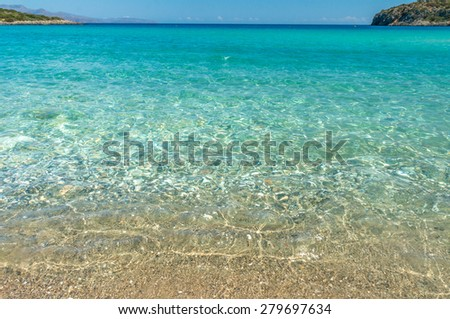 sea wave on the beach. - stock photo