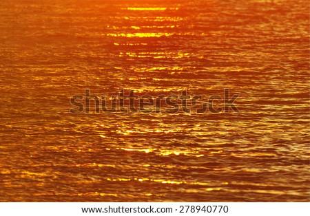 Sea waves evening sunset brilliance natural horizontal background - stock photo