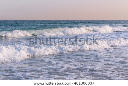 Sea waves in the morning, UAE