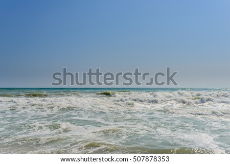 Sea waves on the coast of Bulgaria.