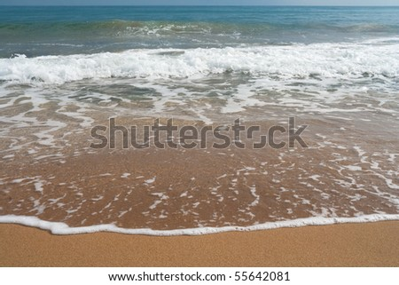 sea waves, sand, beach