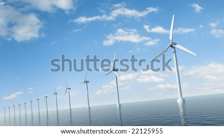 Sea wind farm