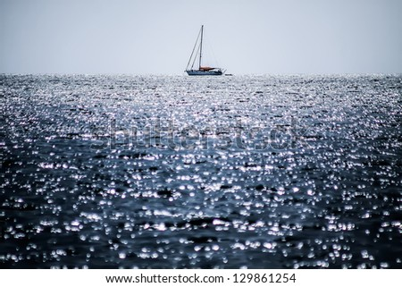 sea with no color - stock photo