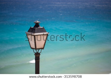sea with with Lamp