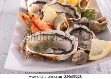 seafood - stock photo