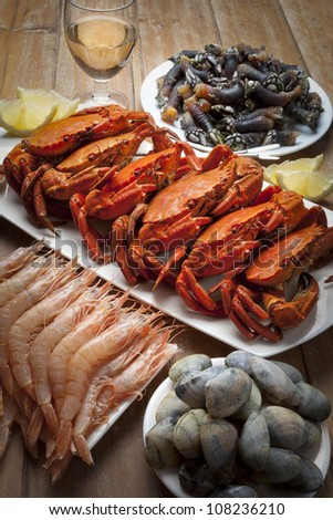 seafood eatery - stock photo