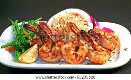 Seafood fine dining at a Nashville Resort and Hotel - stock photo