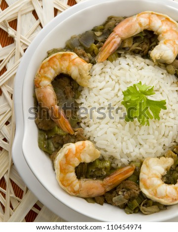 Seafood Gumbo - stock photo