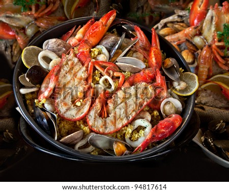 Seafood. Prepared Shellfish. Mediterranean. - stock photo