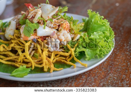 Seafood thai spicy mixed salad