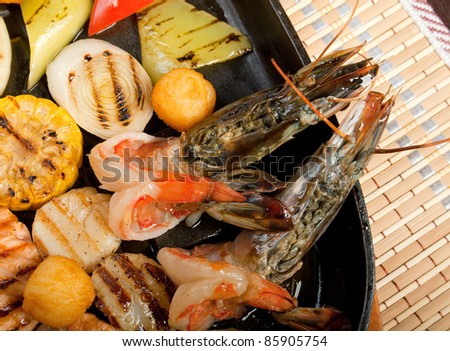 seafoods with vegetable,chinese cuisine