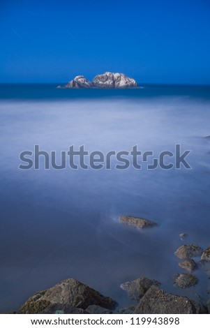 Seal Rocks from Sutro Baths at night , San Francisco